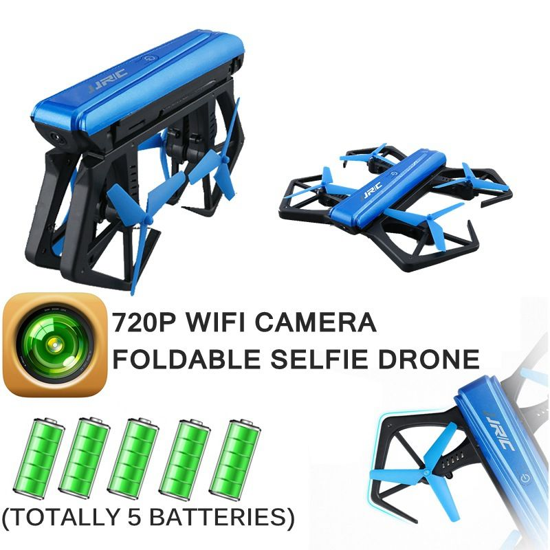 Selfie RC Drone With Camera Drone 720P WIFI FPV Quadcopter Toy For Children Mini Rc Helicopter Flying Copter With 5 Battery