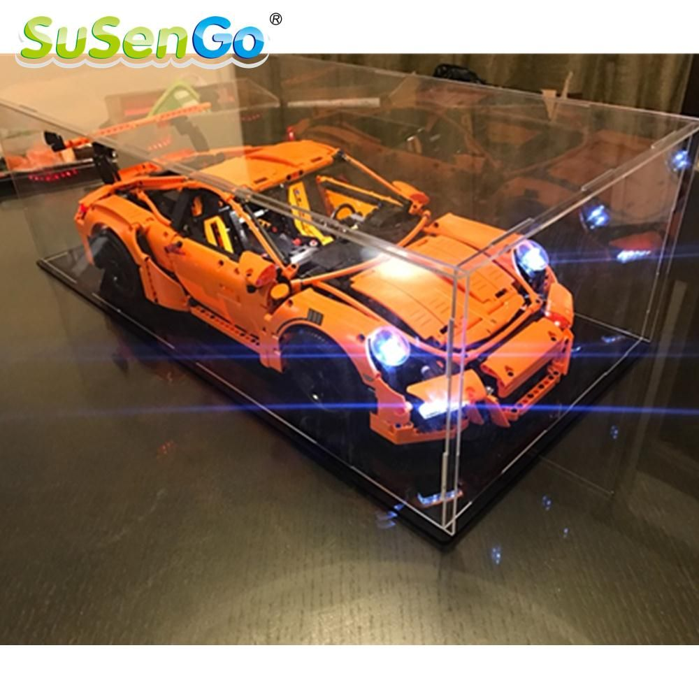 SuSenGo LED Light Kit For Porsche 911 GT3 RS Compatible With Famous Brand 42056 Building Blocks Toys 20001 Light Set
