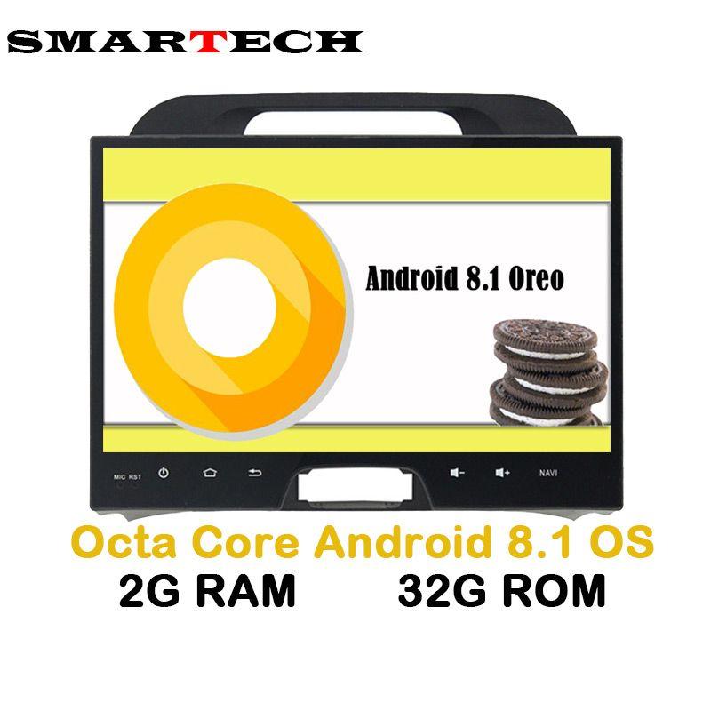 SMARTECH Eight 8Core Android 8.1 Car Multimedia RAM 2G Fit KIA Sportage 2010-2014 Car GPS Navigation Video Radio GPS Player WIFI