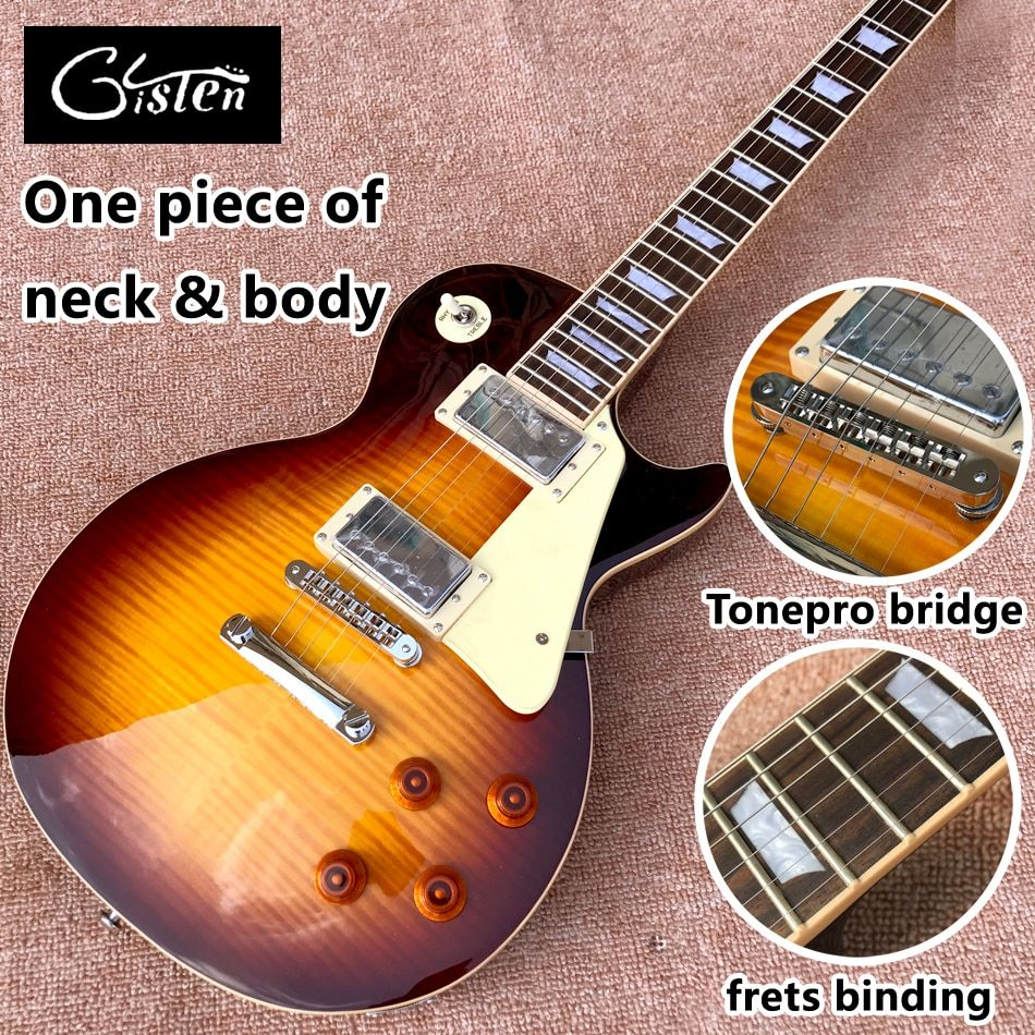New standard LP 1959 R9 electric guitar, Rosewood fingerboard, frets cream binding, a piece of neck & body, Tune-o-Matic bridge