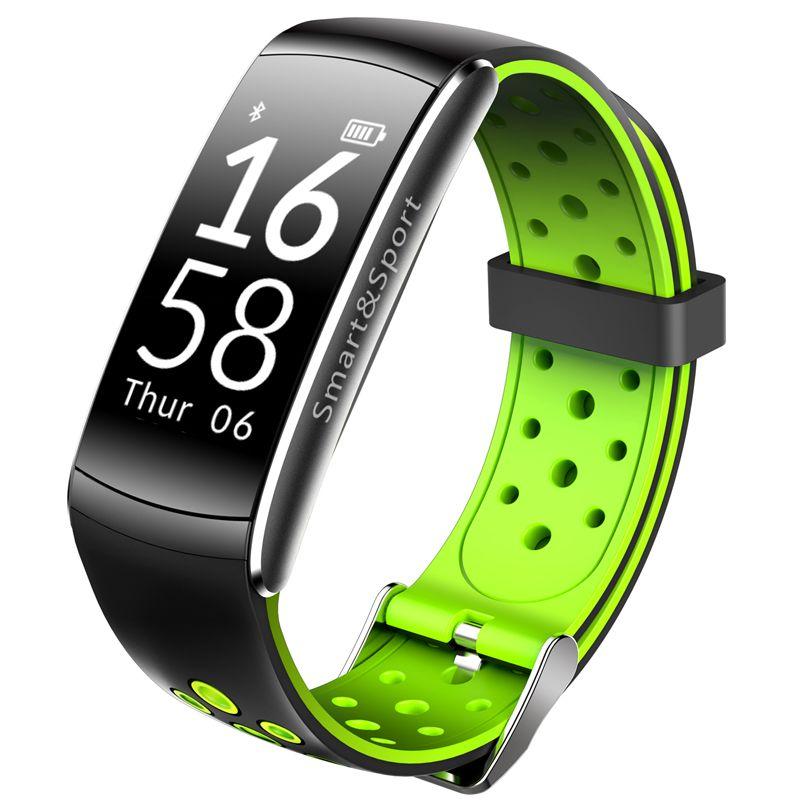 Q8 Bracelet intelligent moniteur de fréquence cardiaque Tracker de Fitness Bracelet Bluetooth IP68 étanche moniteur Sport Smartband pour Android IOS
