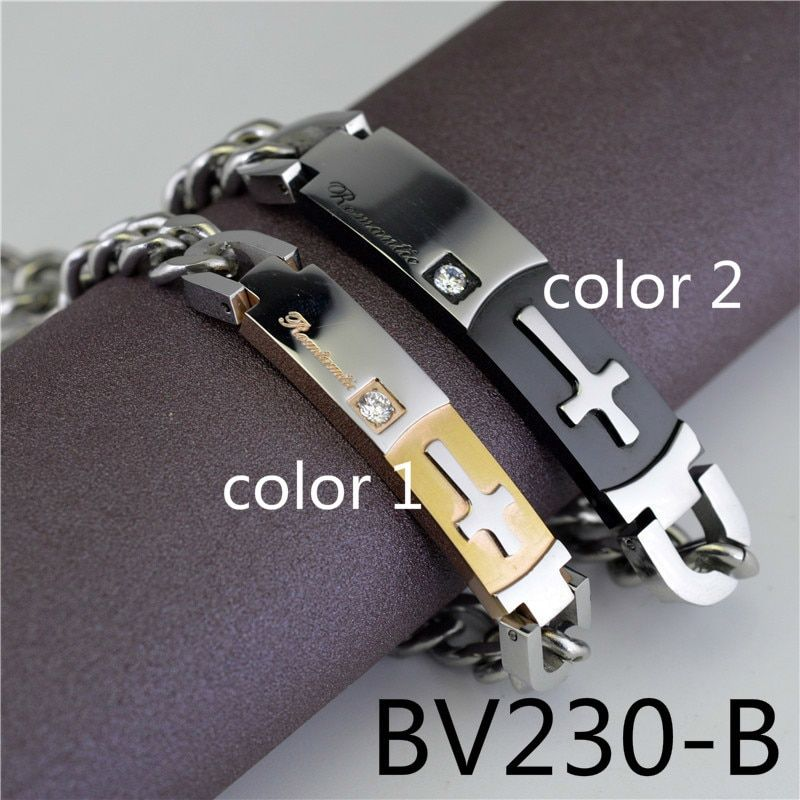 European Restore Ancient Ways Cross Lovers Type Bracelet A Pair Male Ma'am Titanium Crystal Student Accessories Product BV230