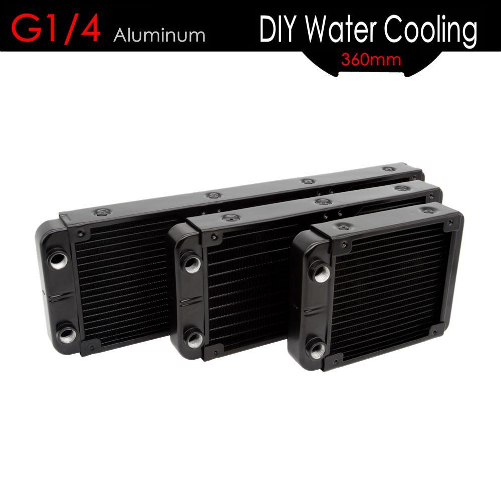 ALSEYE Water Cooler Radiator G1/4 Alumium Water Cooling Heatsink 120/240/360mm DIY Water radiator for CPU/GPU
