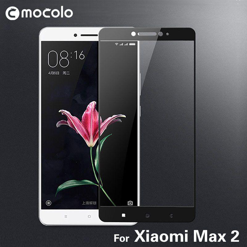 2017 nouveauté Mocolo protecteur d'écran 9 H 2.5D courbé couverture complète en verre trempé Film de protection pour Xiao mi Max 2 mi Max2
