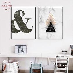 900D Affiches Et Gravures Mur Art Toile Peinture Mur Photos Pour Salon Nordique Marbre Image Décoration NOR010