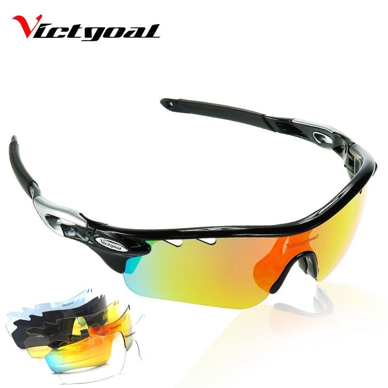 VICTGOAL Polarized Cycling Glasses UV400 Protect <font><b>Bicycle</b></font> Men Women Sunglasses Running Cycling Fishing Bike Eyewear 5 Len Goggles