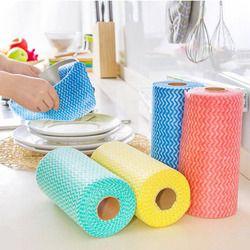 1 Reel Serbaguna Gulungan Handuk non-woven Kain Kain Menyeka Serbet Kain Pembersih untuk Rumah Dapur Kantor Mobil Cleaner