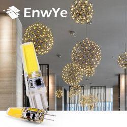 EnwYe LED G4 G9 Lamp Bulb AC/DC Dimming 12V 220V 3W 6W COB SMD LED Lighting Lights replace Halogen Spotlight Chandelier