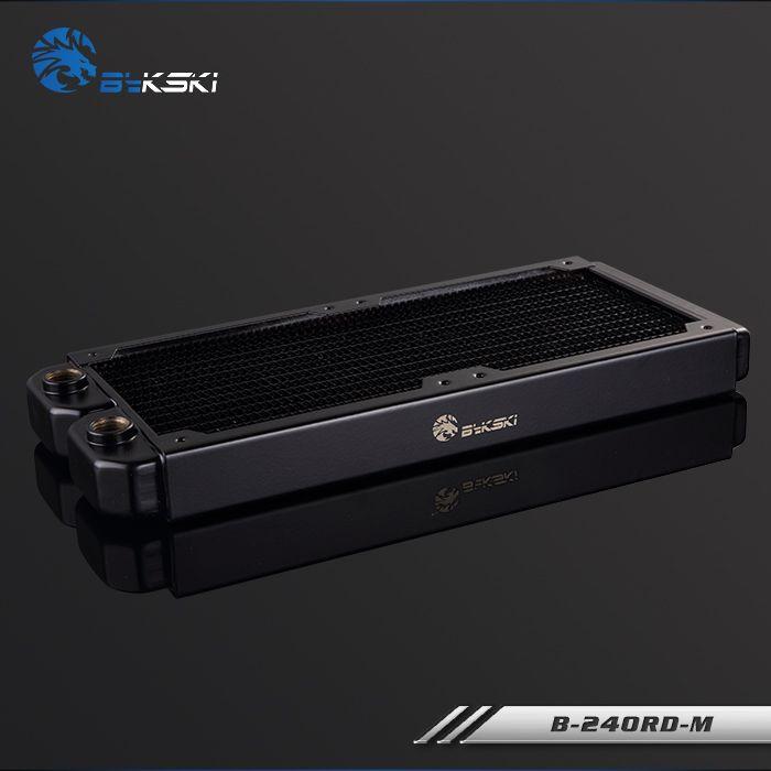 Bykski 28 мм толщиной Медь 240 мм компьютер расход воды жидкости теплообменник один ряд радиатор для 12 см поклонников b-240rd-m