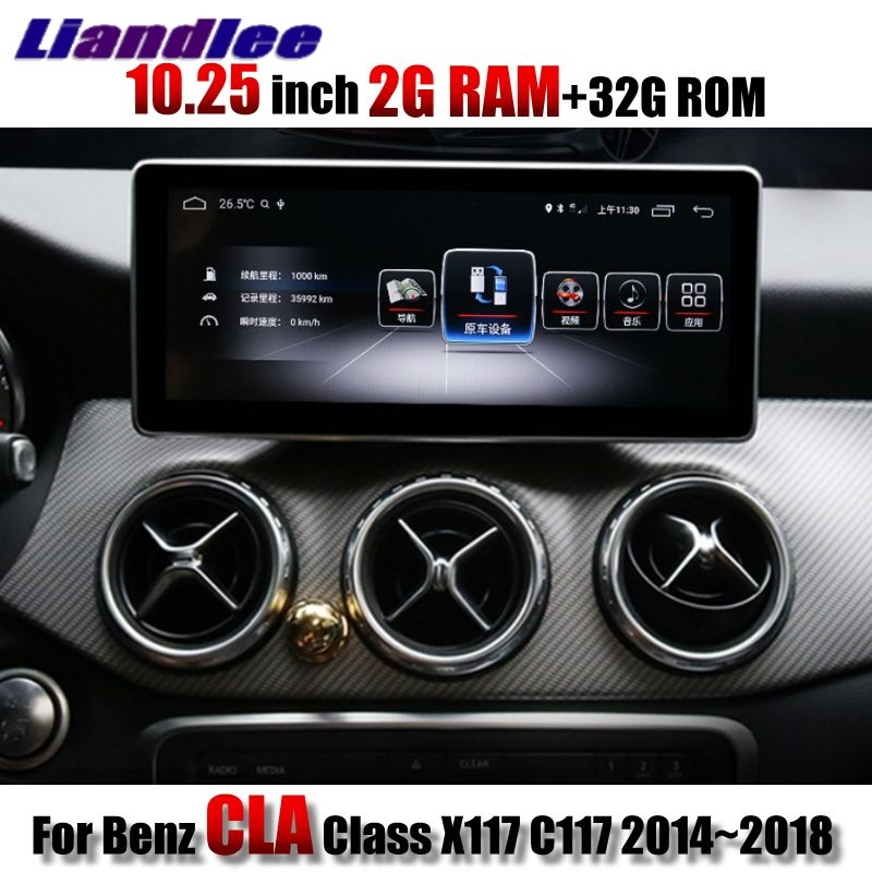 Liandlee Auto Multimedia Player NAVI CarPlay 2g RAM Für Mercedes Benz MB CLA Klasse X117 C117 2014 ~ 2018 auto Radio GPS Navigation