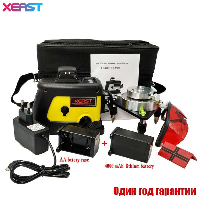 Xeast 12 línea nivel láser 360 vertical y horizontal autonivelante Cross Line 3D nivel láser rojo haz mejor que Fukuda