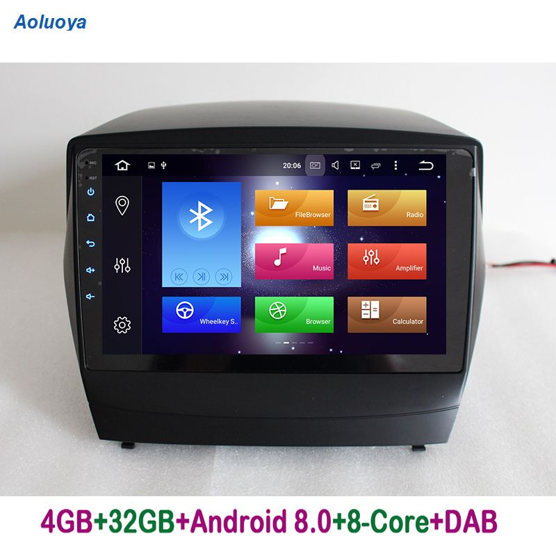 Aoluoya RAM 4GB Octa Core Android 8.0 CAR Radio DVD GPS Navigation For Hyundai IX35 IX 35 2009-2015 Audio HeadUnit WIFI 4G DAB+