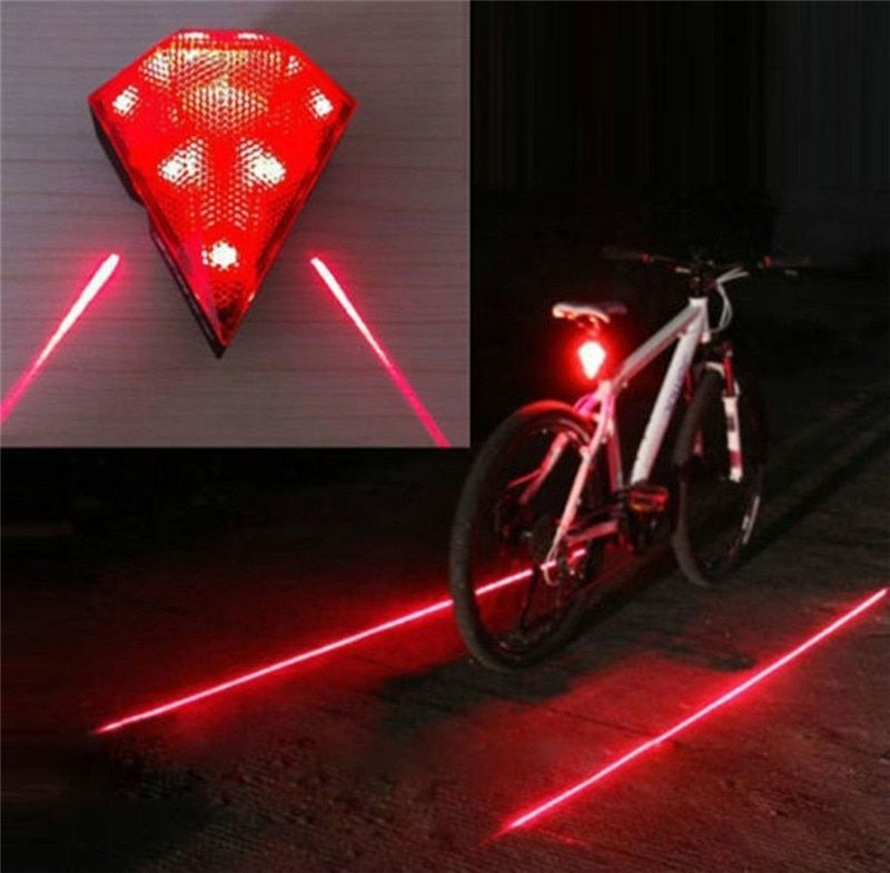 Rechargeable Bike Rear Light Cycling Safety Zone Lamps Bicycle LED Diamond Bright Taillights Security Warning Lights LT0035