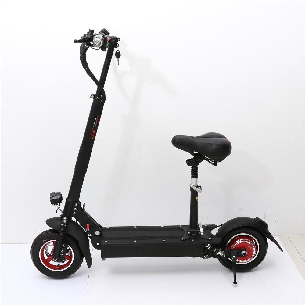 UBGO 1003 Single Driver 10 INCH Foldable Electric Scootor with 1000W Turbine Motor with Solid Rear tire