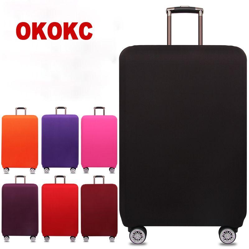 OKOKC voyage épaissir élastique couleur Pure valise housse de protection, appliquer à 18-32 pouces étuis, accessoires de voyage