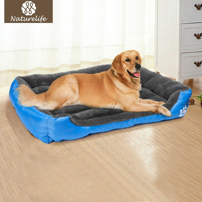 Pet grand lit pour chien chaud chien maison doux nid chien paniers chenil étanche pour chat chiot grande taille livraison directe