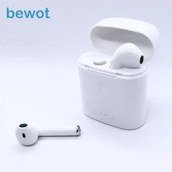 Bewot TWS i7 Bluetooth Écouteurs Jumeaux Casque Téléphone Sport Casque mini-Écouteurs Sans Fil Stéréo Écouteurs Écouteur Pour Xiaomi