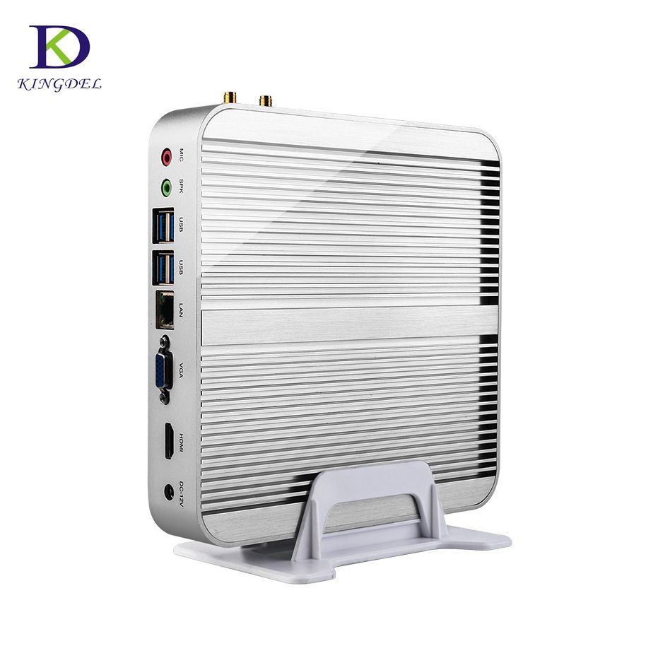 Kingdel Fanless Mini PC Windows10 Processor Intel Core i7 5550U i5 4200U i3 5005U/5010U Nuc Computer 4K TV Box DHL Free Shipping