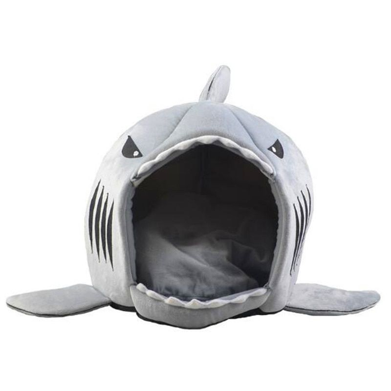 Dog Cat Bed Shark Mouse Shape <font><b>Washable</b></font> Dog house Pet Sleeping Bed Dog Kennel Pet Nest Removable Cushion Gray Blue Pink Colors