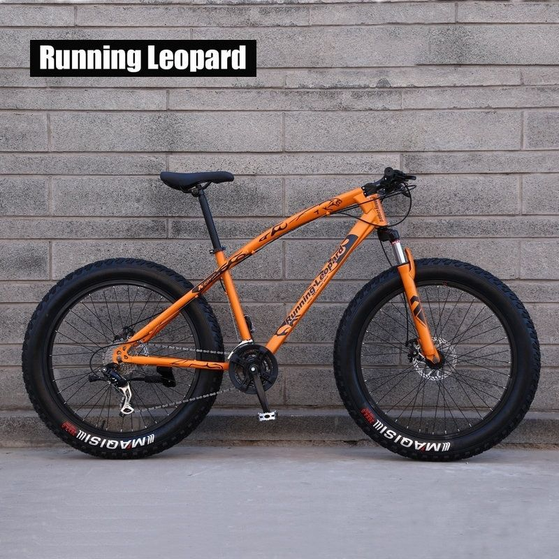 Running Leopard 7/21/24 Speed 26x4.0 Fat bike Mountain Bike Snow Bicycle Shock Suspension Fork Free delivery in Russia bicicleta