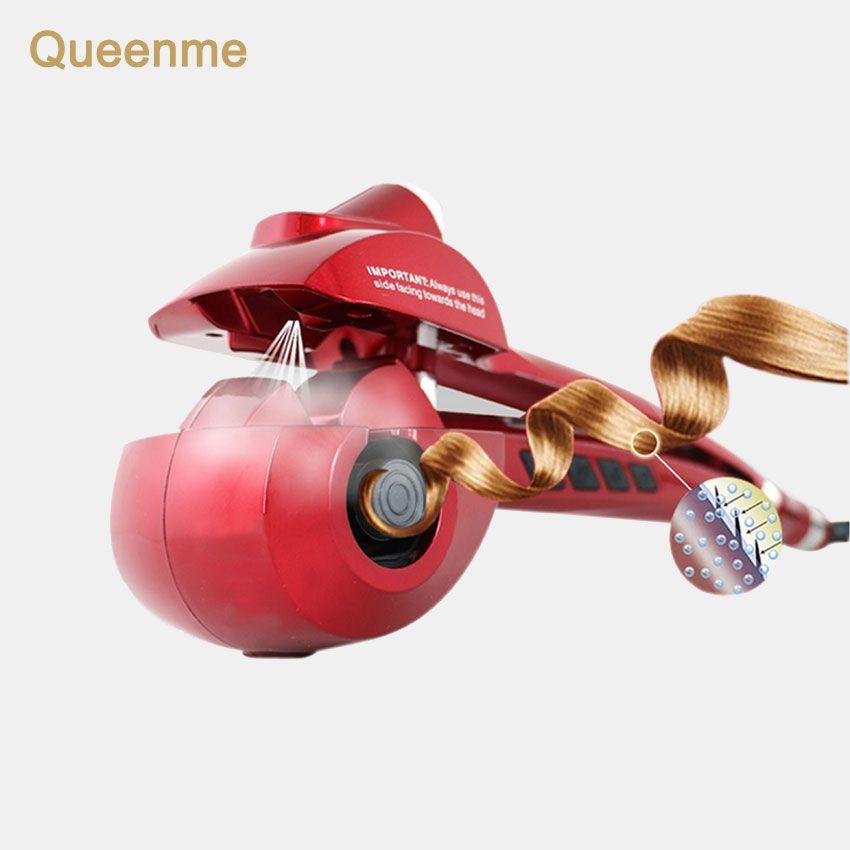 Queenme Automatic Hair Curler Steam Spray Hair Care Styling Tools Magic Curling Iron Hair Curl Titanium Ceramic Wave Hair Styler