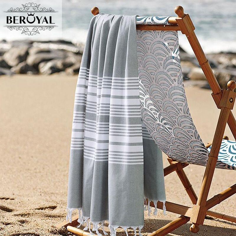 Nouveauté 2019 serviette turque-100% serviettes de bain en coton pour adulte serviette de plage Super douce serviette sèche rapide couverture en mousseline marque 75*140cm