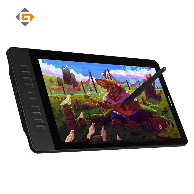 GAOMON PD1560 IPS 1920X1080 LCD Pen Display 8192 Levels Graphic Tablet For Drawing With Screen & Art Glove For Computer Monitor