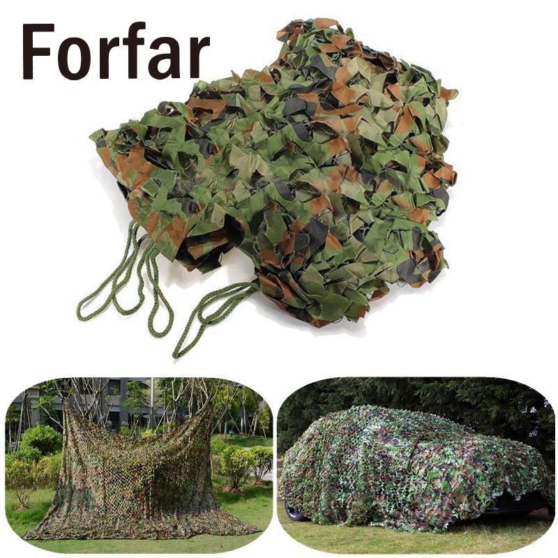 Forfar 2x3M Camouflage net Army Woodland Shooting Hide Hunting Netting pretend