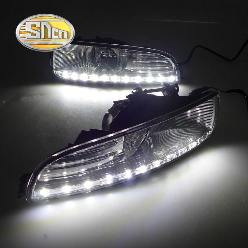 Для Skoda Superb 2010-2013, супер Яркость Водонепроницаемый ABS автомобилей DRL 12 В светодиодный днем Бег света с крышкой противотуманных фар sncn
