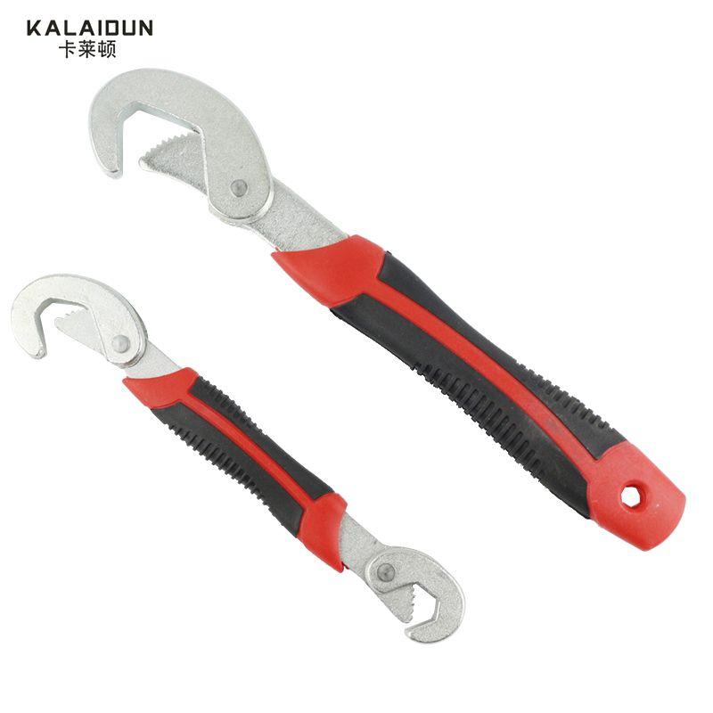 KALAIDUN Multi-Fonction 2 pcs Universel Clé Réglable Grip Wrench set 9-32mm clé à cliquet Clé main outils