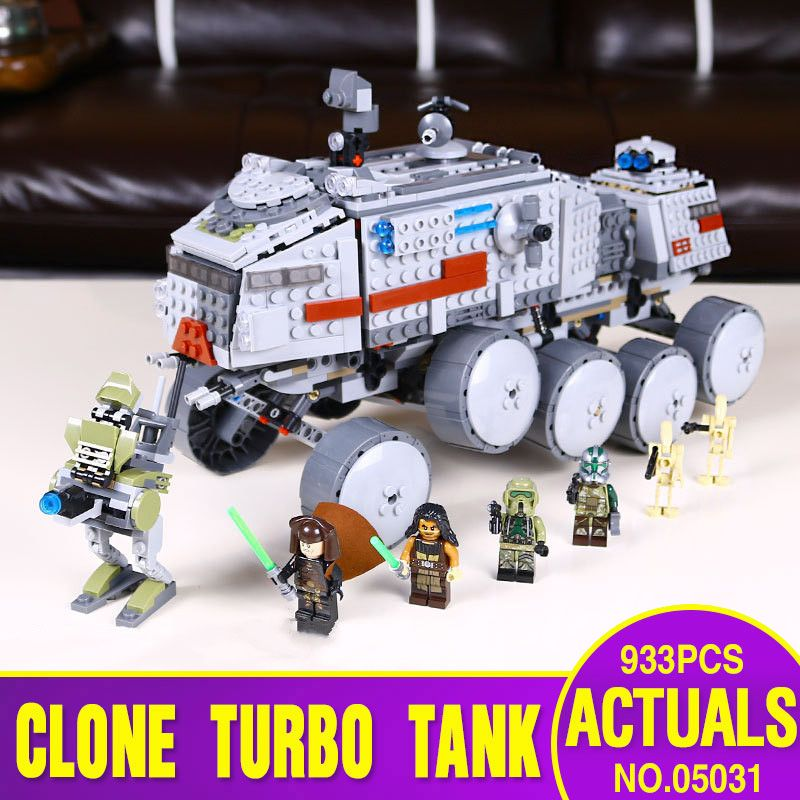 Ship From Spain DHL 05031 Star series Wars Clone Turbo Tank 75151 Building Blocks Legoing Toys model as Childen Christmas Gift