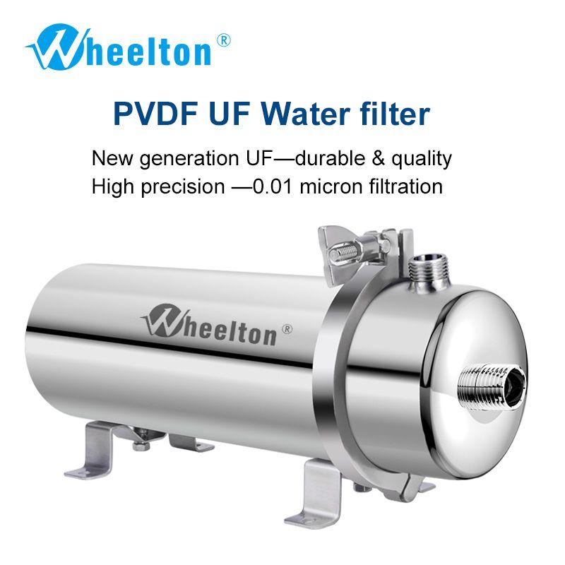 Wheelton 304 Edelstahl Wasserfilter PVDF Ultrafiltration Luftreiniger, 1000L, Kommerziellen Hause Küche Trinken Gerade UF Filter