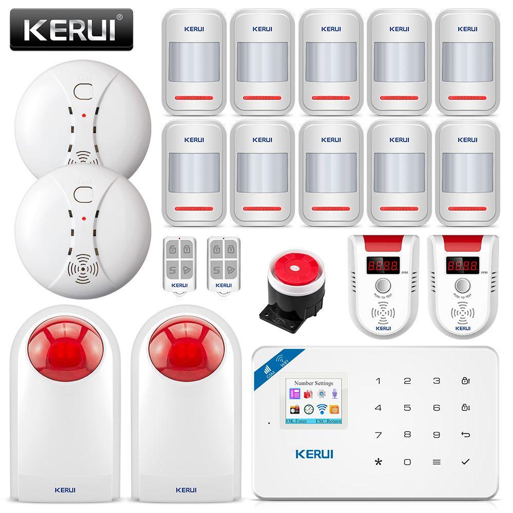 KERUI W18 Wireless APP Control LCD GSM SMS Burglar Alarm System For Home Security