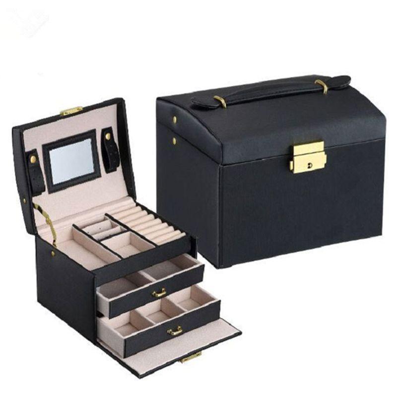 Bijoux Emballage Boîte Boîte Cercueil Pour Bijoux Exquis Cas Maquillage Bijoux Organisateur Conteneur Boîtes Graduation Anniversaire Cadeau