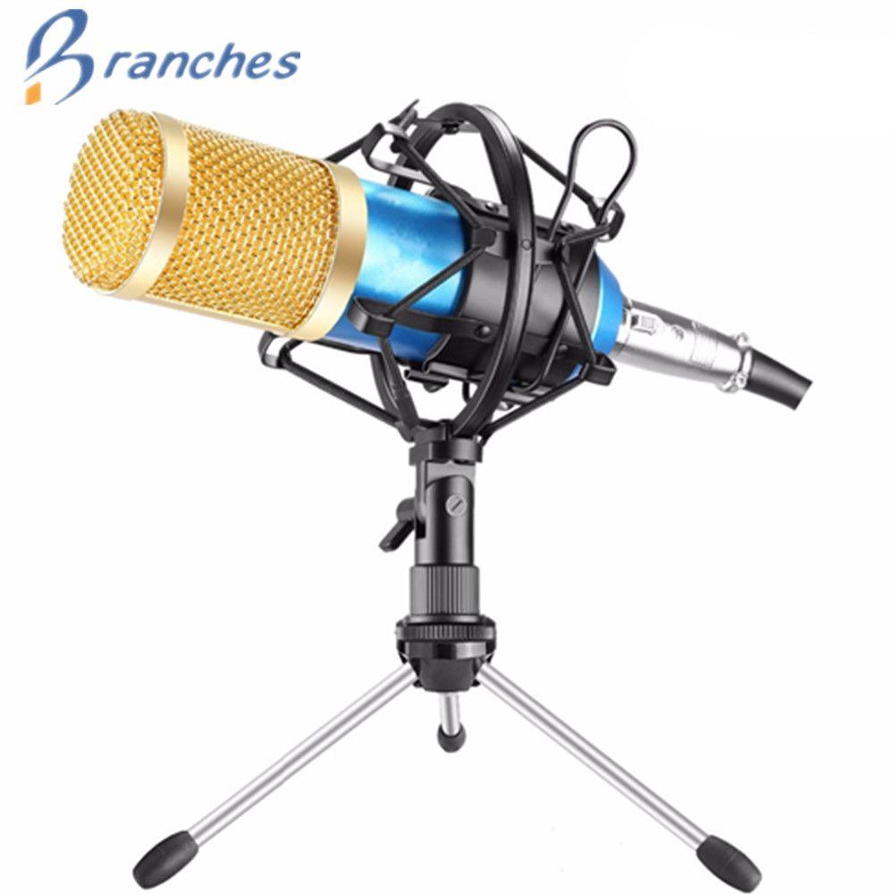 BM800 Microphone Condenser Sound <font><b>Recording</b></font> With Shock Mount For Radio Braodcasting Singing <font><b>Recording</b></font> Kit KTV Karaoke BM 800