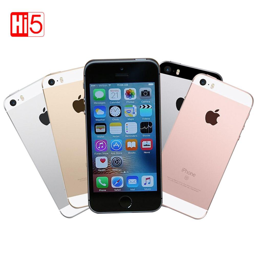 Déverrouillé Apple iPhone SE 16G ROM LTE téléphone 12.0 MP Caméra Dual core D'empreintes Digitales 4.0