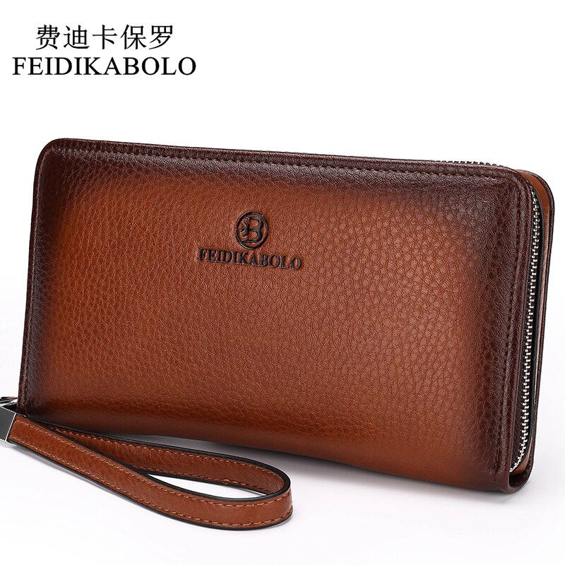 2018 <font><b>Luxury</b></font> Male Leather Purse Men's Clutch Wallets Handy Bags Business Carteras Mujer Wallets Men Black Brown Dollar Price