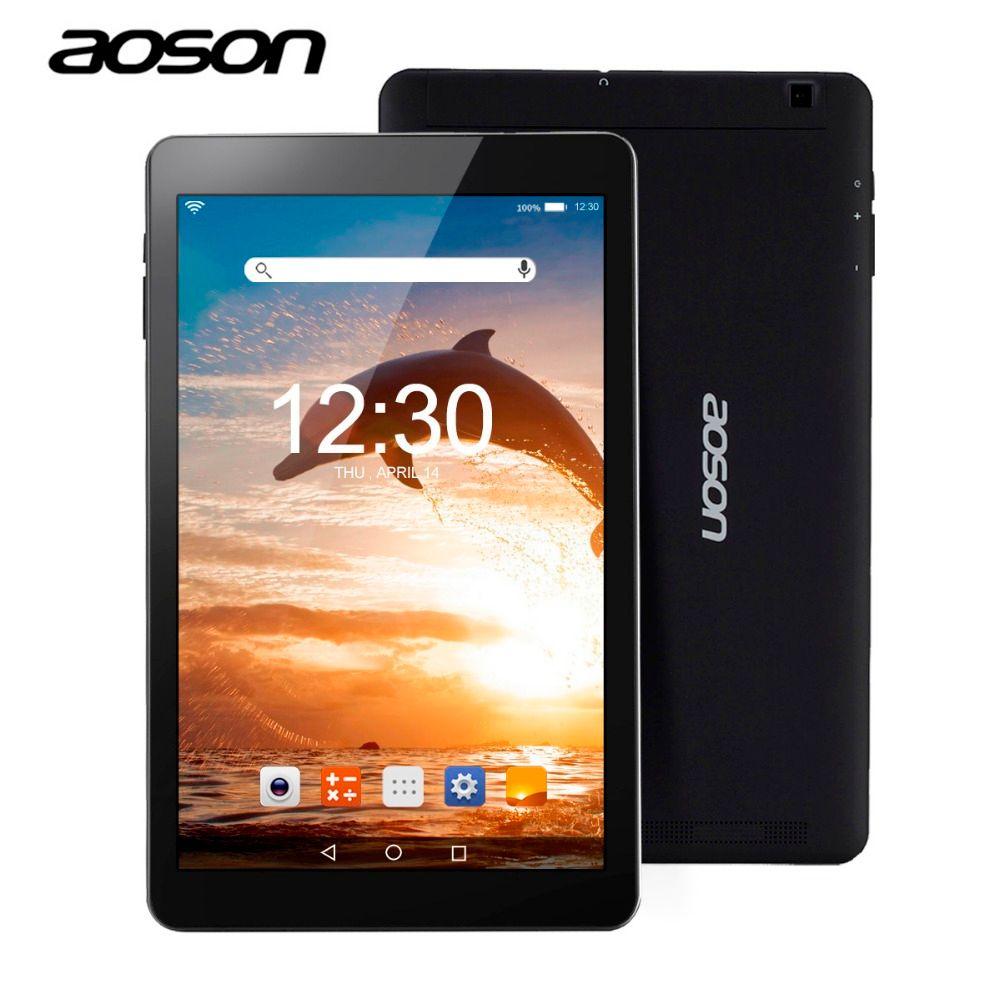 Neue geschenk 10,1 zoll Android 6.0 ultradünne Aoson R101 Tablet PC 16 GB ROM 2 GB RAM MTK 8163 Quad Core 800*1280 IPS 5000 mAh GPS