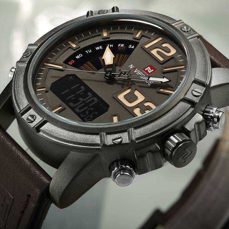 2018 Top Luxury Brand <font><b>NAVIFORCE</b></font> Men Sports Watches Waterproof Quartz Clock Male Fashion Leather Wrist watch Relogio Masculino