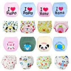 10 pcs Lot Couches Pour Bébés Enfants Sous-Vêtements Réutilisable Diaper Cover Animaux Infantile Pot Pantalon de Formation Lavables 27 Conceptions QD05