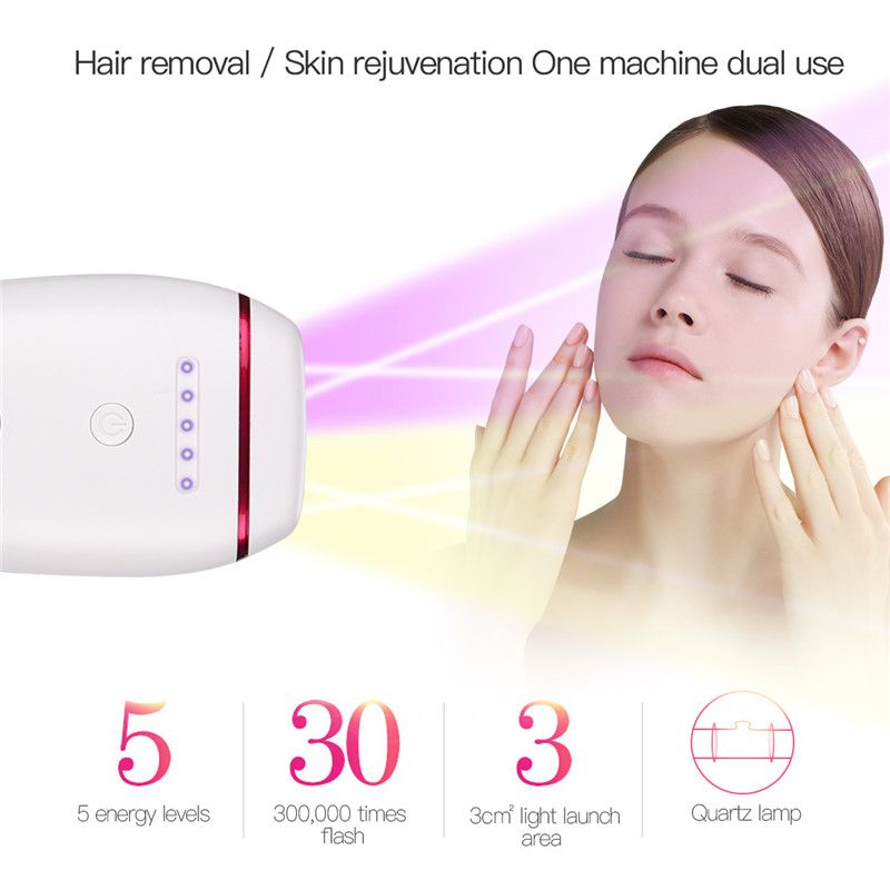 2 In1 IPL Laser Epilator Hair Removal Machine Permanent Bikini Trimmer Electric Depilador Painless Body Facial Hair Shaver Razor