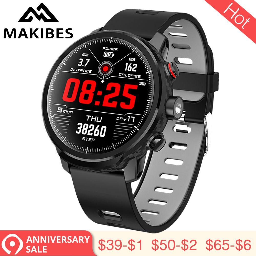 3,28 Makibes L5 Smart Uhren Standby für 100 tage IP68 wasserdichte Wetter Smartwatch Unterstützung Led beleuchtung Nachricht anruf erinnerung