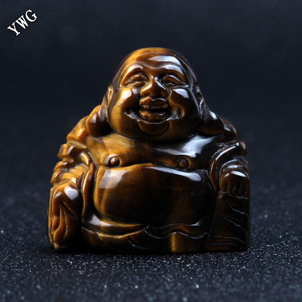 Opalite Natural Stone Carved Buddha 1.5 inch Green aventurine Maitreya Figurine Chakra Healing Quartz Reiki Free pouch