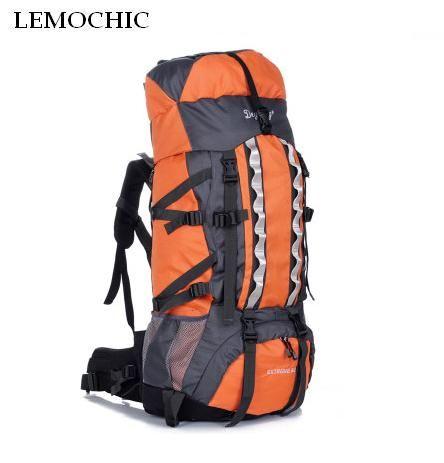 LEMOCHIC 100L adjustable waterproof Mountaineering rucksack Sports Travel Bags Outdoor Camping Hiking fishing Climbing backpack