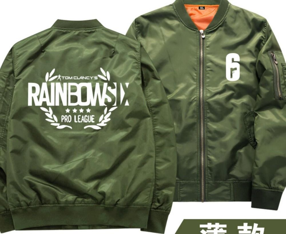 Tom Clancy's Rainbow Six Siege student Navy Green Coat hoodie Thin jacket baseball jacket