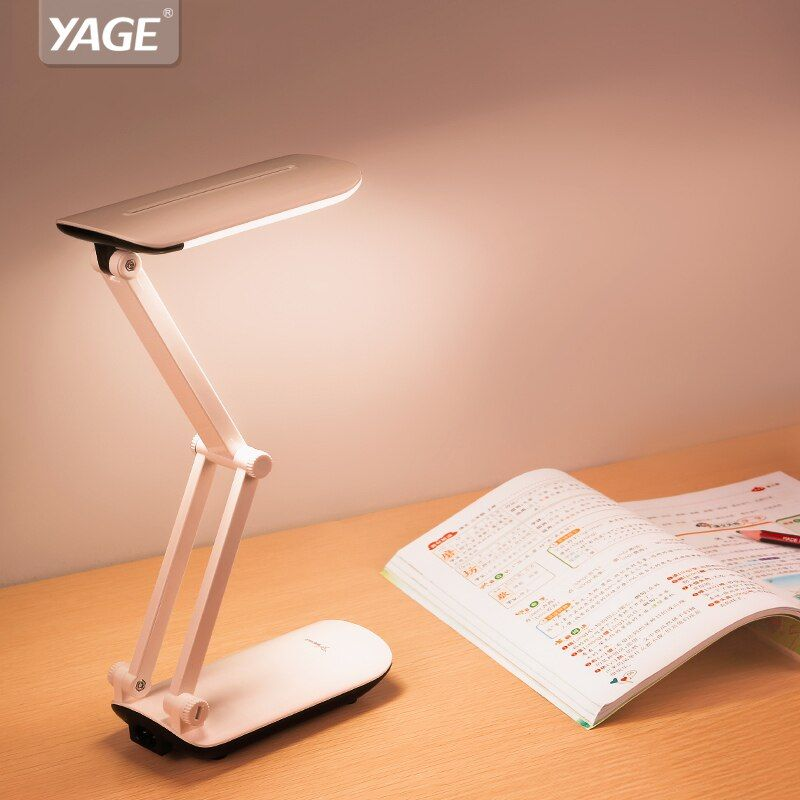 <font><b>YAGE</b></font> led desk lamps flexo Foldable LED table Lamp 800mAh Battery on Colorful Night Light Lamp Table Light flexible for children