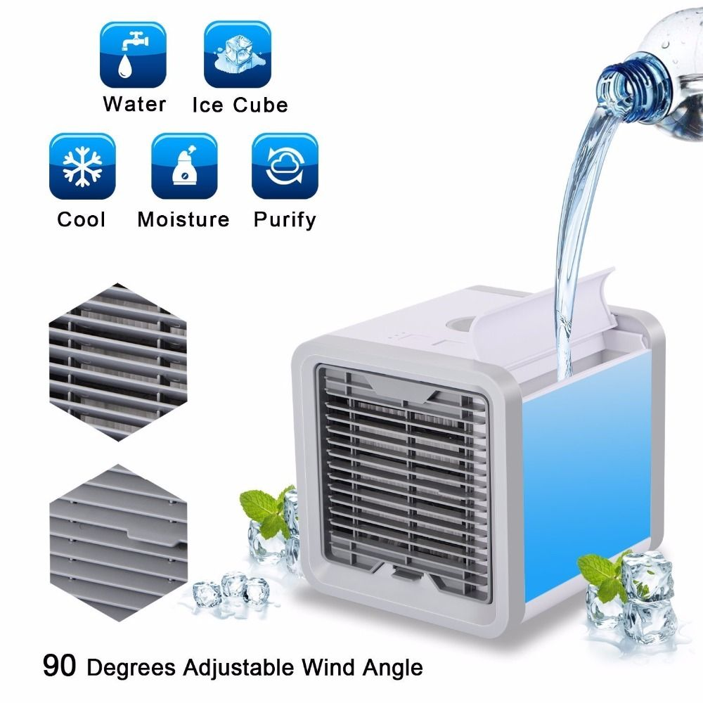 Small Air Conditioning Appliances Mini Fans Air Cooling Fan Summer Portable Strong Wind Air Conditioning Any Space