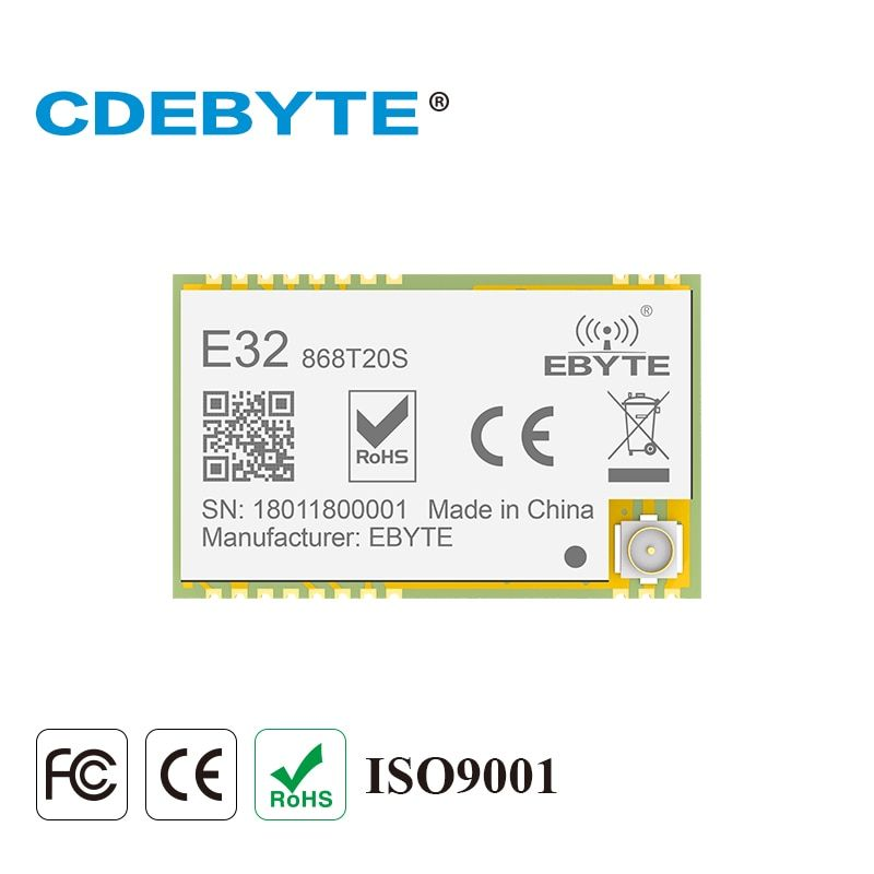 SX1276 LoRa 868MHz 100mW SMD Wireless Transceiver CDEBYTE E32-868T20S 868 mhz TTL Long Range IPEX Transmitter and Receiver