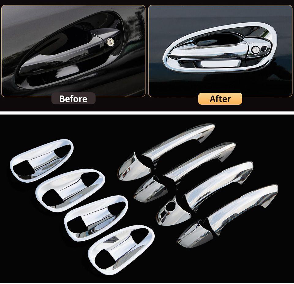 Bol de porte et poignée autocollants de protection garniture de couverture pour Mercedes Benz GLE W166 ML350 2012 350d GL X166 GLS accessoires d'intérieur