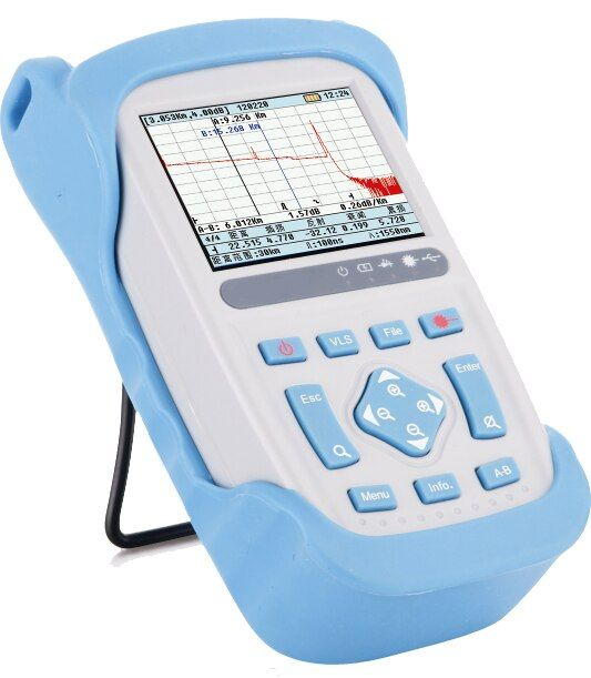 1310/1550nm Fiber Optic OTDR Reflectometer 28/26dB 1.5/8m Dead Zone, with Carrying Bag, FC/SC/ST Connectors, (Model# FF80D28)